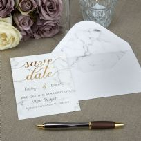Scripted Marble Save The Dates (10)